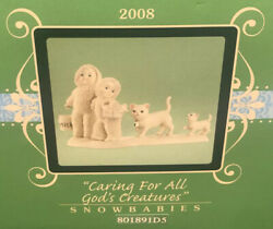 Dept 56 Snowbabies Caring For All Of Godand039s Creatures 801891 Retired