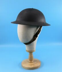Wwi World War One Doughboy Metal Helmet Leather Liner Chin Strap