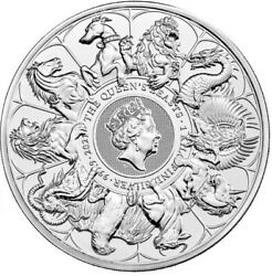 2021 Queenand039s Beasts And039completerand039 1 Kilo Silver Bullion - New In Stock