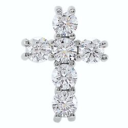 Cross Diamond Pendant Or Necklace Andfrac34ctw Gh 14k White Rose Yellow Gold Or Platinum