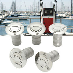 Marine Boat Gas Filler 1-1/2and039and039 Keyless Fuel Deck Gas Cap 316 Stainles And