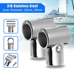 22mm Stainless Steel Boat Yacht Rail Handrail Pipe Tube Connector Clamp