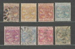 Barbados - Mail 1882 Yvert 39/47 Missing No 45 / Used Mh/used Queen Victoria