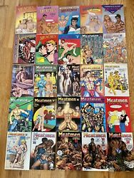 Vintage Meatmen Anthology Of Gay Male Comics 1-25 By Leyland Publications Rare