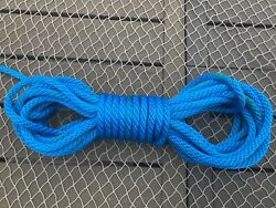 Boat Anchor Line Boating Nautical Nylon Rope Royal Blue Color 48 Long Pre-owned