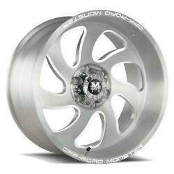 22 Inch 22x12 Offroad Monster M07 Silver Brushed Wheel Rim Blank -44