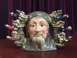 Royal Doulton D7029 Geoffrey Chaucer Large Two-handled Character Jug