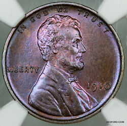Pretty Toned Ngc Pf66 Rb 1910 Lincoln Wheat Cent Matte Proof 1c Bc13