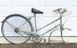 Vintage Raleigh Sports Bike Women's Ladies Bicycle England Mint Green Parts Only