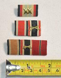 1918 Military Imperial German Crossed Swords Pin Army Wwi Ribbon Bar Army Forces