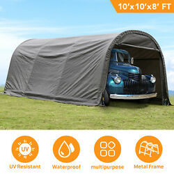 10'x20'x8' Ft Shed Tent Storage Car Garage Steel Shade Canopy Carport Shelter Uv