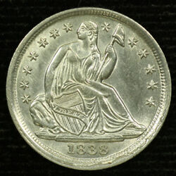 Liberty Seated Silver Half Dime. 1838 . Uncirculated Lot 9037-69-038