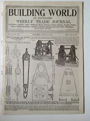 Building World Antique Trade Magazine 21st August 1897 Plumber Engineers Adverts