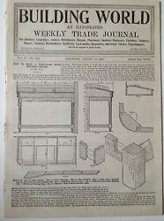 Building World Antique Trade Magazine 14th August 1897 Plumber Engineers Adverts