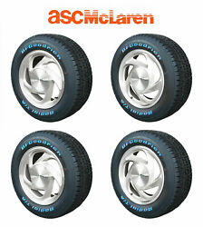 1989-1990 Asc Mclaren Mustang Oem Silver Wheels And Tires W/ Center Caps Set Of 4