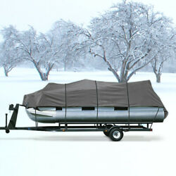 600d Waterproof Boat Pontoon Cover Fits 17and039-19and039- Includes 3 Support Poles