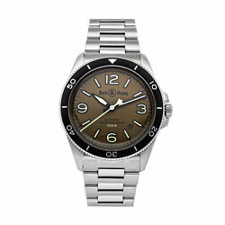 Bell And Ross Br-v2-92 Military Green Auto Steel Mens Watch Brv292-mka-st/sst