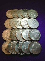 10 Face Value 90 Silver Franklin And Kennedy Half Dollars 280