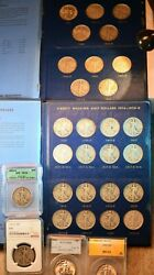 1916-1947 Walking Liberty Half 65 Coin Outstanding Complete Set Some Certified5