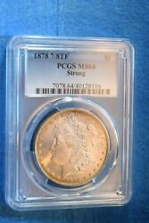 1878 Morgan Dollar 7/8 Tail Strong Superior Pcgs Certified Ms--64 9