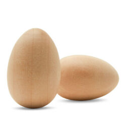 Wooden Eggs Unfinshed 1-1/8 Inch Small Craft Eggs Easter Ornaments  woodpeckers