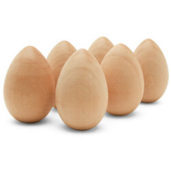 Wooden Eggs Unfinshed 2 Inch Craft Eggs And Easter Ornaments  woodpeckers