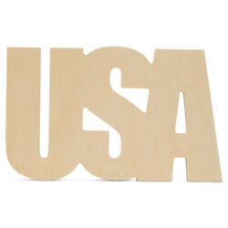 Unfinished Wooden Usa Cutout 16 For Summer Decor And Crafting | Woodpeckers