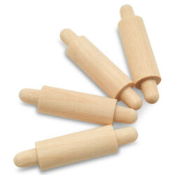 Mini Wooden Rolling Pin 1-5/8 Inches For Home Dcor And Crafts   Woodpeckers