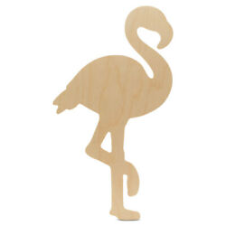 Unfinished Wooden Flamingo Cutout 12 For Summer Decor And Crafts   Woodpeckers