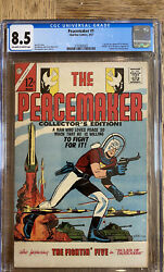 Peacemaker 1 Cgc 8.5 Charlton 3/67 Ow/w Pages Suicide Squad Cena Hbo/max