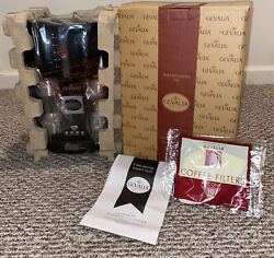 Gevalia Coffee Maker For Two 2 Stainless Travel Mugs Ws-02at - Brand New