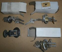 Lot Of 4 Mortise Cylinder 1-1/8 Inch Ilco Unican 605-04-41 Brass, Chrome, Blank