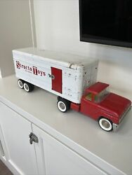 Vintage Original 1960's Structo Truck Semi And Trailer Structo Toys Live Action