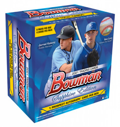 In Hand Two 2 2021 Topps Bowman Sapphire Edition Sealed Box 582 Montgomery