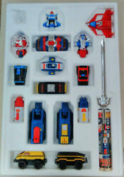 Popy Armored Fleet Dairugger Xv Action Figure Kit With Box From Japan Retro Toy