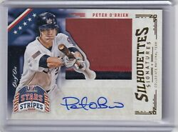 Peter O'brien 2015 Panini Stars And Stripes Silhouettes Jumbo Patch/auto 82, 1/1