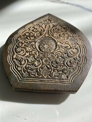 Ancient Vintage Heavy Bronze Jewelry-making Press For Gold/silver 2x4x1/8 Inches