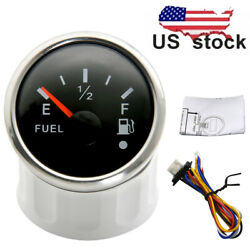 2and039and039 52mm Boat Car Fuel Level Gauge Marine Tank Level Meter 240-33ohms With Alarm