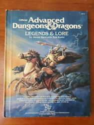 Adandd Legends And Lore 1984 Tsr 2013 Advanced Dungeons And Dragons Hc Vintage