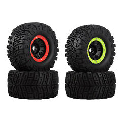 2x Rc 166mm Rubber Tyre For Bush G5 E6 G2 Hpi Savage Hp 18 Rc Monster Truck