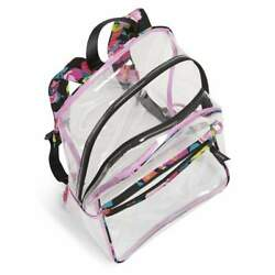 Nwt Vera Bradley Essential Clear Backpack Hilo Meadow Retails For 89