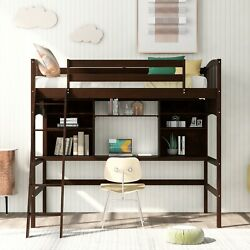 1-pc Multi-functional Contemporary Wooden Bedroom Furniture Twin Loft Bed Wood
