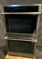 Samsung Nv51k6650dg 30 Electric Double Wall Oven Steam Cook And Dual Convect Bs