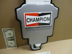 Champion - Looks Like A Big Spark Plug - Car Truck Tune-up Shop -giant Size Sign
