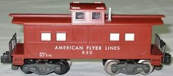 American Flyer 1957 Afl Caboose W/riveted Light Chassis 930