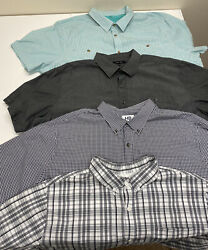 Lot Of 4 - 4xl Mens Button Up Shirts - Harbor Bay - King Size - Synrgy 4xlt Big