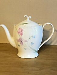 Mikasa Sashay Afternoon Teapot With Lid Floral Motif Discontinued