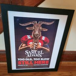 Tom Brady Goat Poster Sam Adams Beer Super Bowl Liii Cheers To Six Time