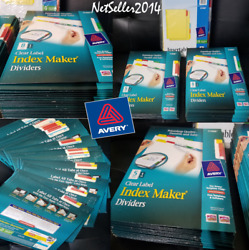 🔥lot Of 41 Packs Avery Index Maker Print Label Dividers W/color Tab 5 And 8 Taps