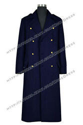 Doctor Torchwood Captain Jack Harkness Cosplay Costume Black Wool Trench Coat